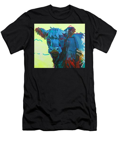 Belted Galloway Cow On Dartmoor Men's T-Shirt (Athletic Fit)