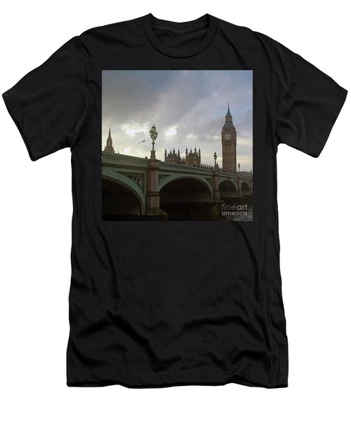 Ben And The Bridge Men's T-Shirt (Slim Fit) by Sebastian Mathews Szewczyk