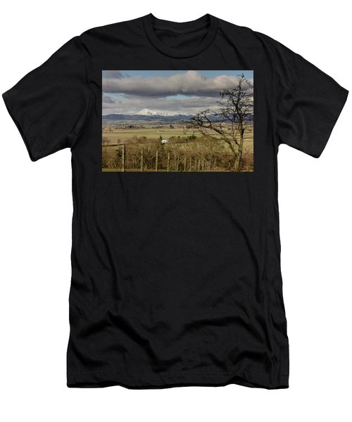 Men's T-Shirt (Athletic Fit) featuring the photograph Ben Ledi Across The Carse by RKAB Works