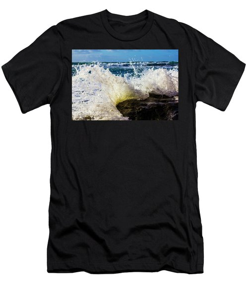 Wave Bending Backwards Men's T-Shirt (Athletic Fit)