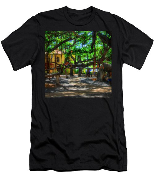 Beneath The Banyan Tree Men's T-Shirt (Slim Fit) by DJ Florek