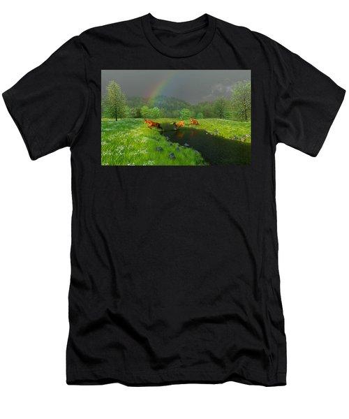 Beneath The Waning Mist Men's T-Shirt (Athletic Fit)