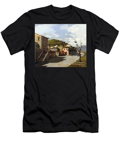 Provincia Di Benevento-italy Small Town The Road Home Men's T-Shirt (Athletic Fit)