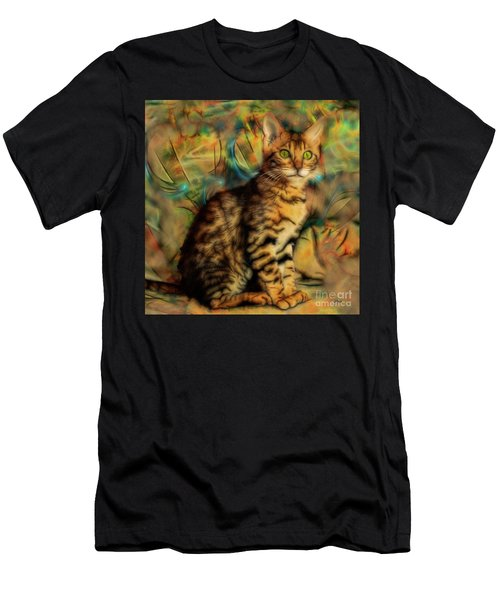 Bengal Kitten - Square Version Men's T-Shirt (Athletic Fit)