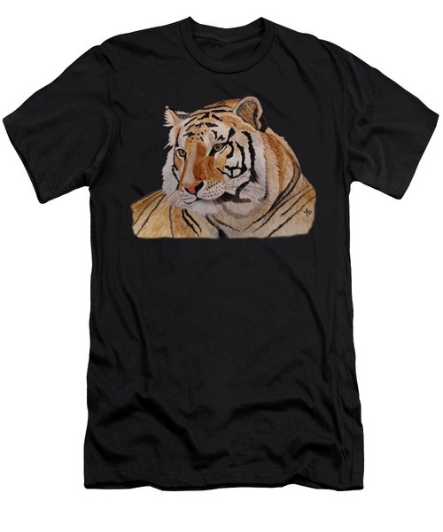 Men's T-Shirt (Athletic Fit) featuring the painting Bengal Tiger by Angeles M Pomata