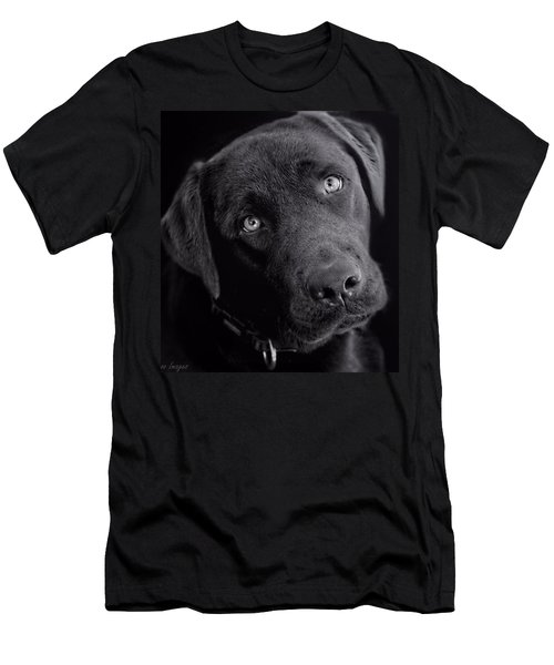 Men's T-Shirt (Slim Fit) featuring the photograph Benji In Black And White by Wallaroo Images