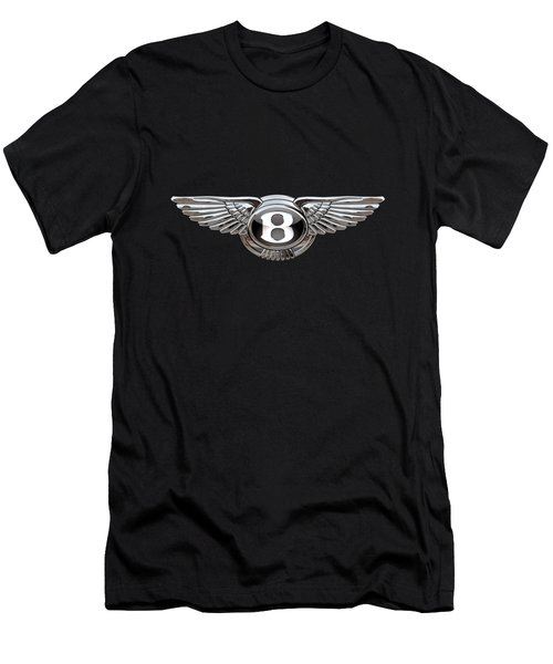 Bentley - 3d Badge On Black Men's T-Shirt (Athletic Fit)
