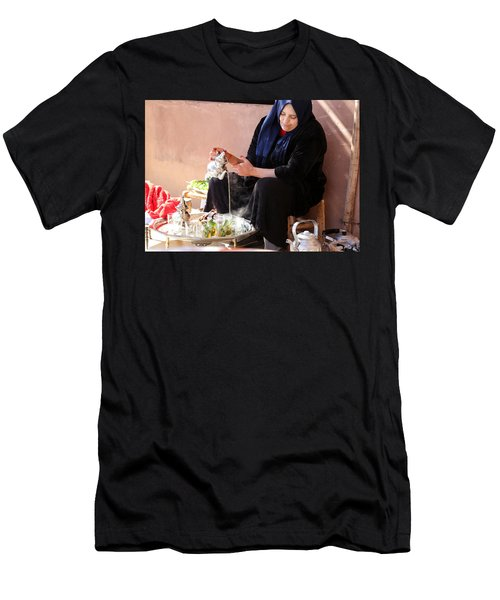 Men's T-Shirt (Slim Fit) featuring the photograph Berber Woman by Andrew Fare