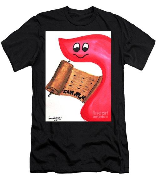 Bereshit Resh Means Begin Men's T-Shirt (Athletic Fit)