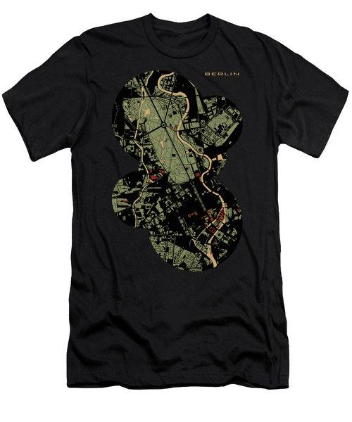Berlin Engraving Map Men's T-Shirt (Slim Fit)