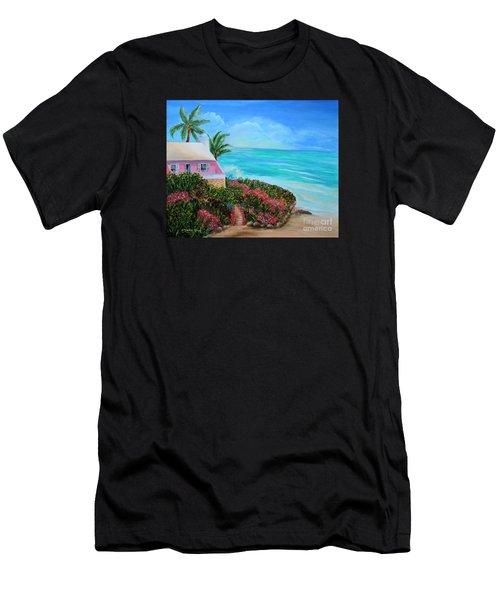 Bermuda Bliss Men's T-Shirt (Slim Fit) by Shelia Kempf