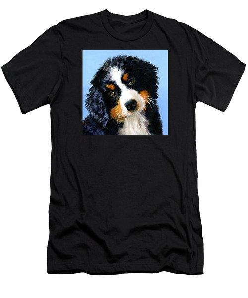 Bernese Mountain Puppy Men's T-Shirt (Athletic Fit)