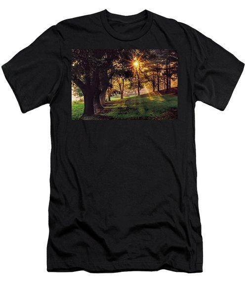 Bernharts Dam Fog 001 Men's T-Shirt (Athletic Fit)