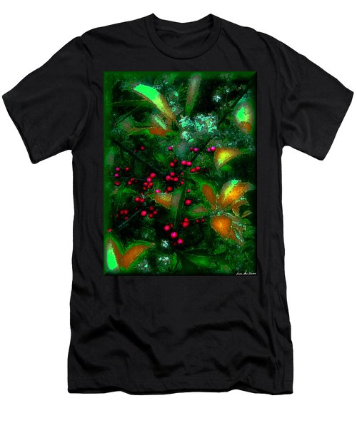 Men's T-Shirt (Slim Fit) featuring the photograph Berries by Iowan Stone-Flowers