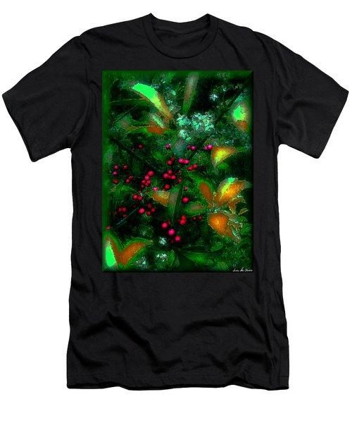 Berries Men's T-Shirt (Slim Fit) by Iowan Stone-Flowers