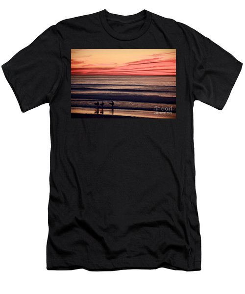 Beside Still Waters - Digital Paint Effect Men's T-Shirt (Slim Fit) by Sharon Soberon