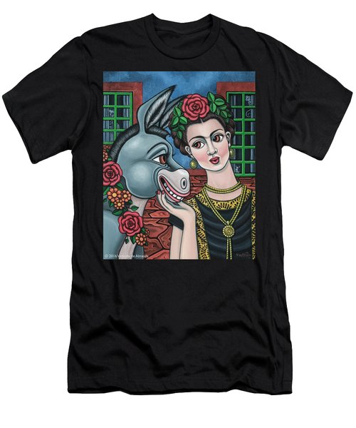 Beso Or Fridas Kisses Men's T-Shirt (Athletic Fit)