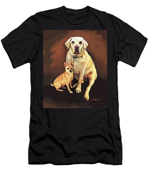 Best Friends By Spano Men's T-Shirt (Athletic Fit)