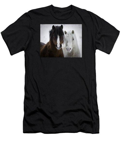 Best Friends II Men's T-Shirt (Slim Fit) by Everet Regal
