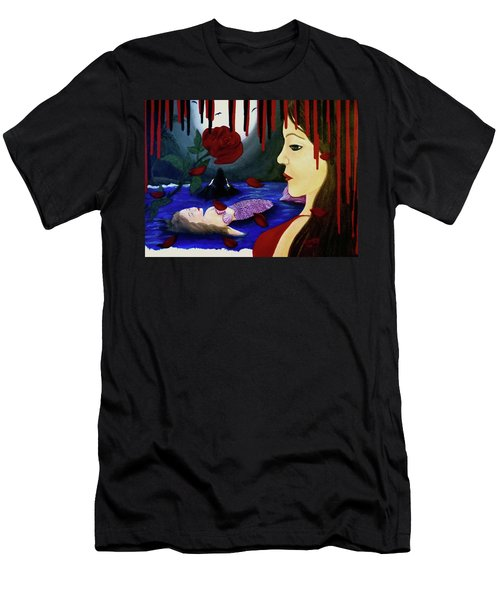 Men's T-Shirt (Slim Fit) featuring the painting Betrayal by Teresa Wing