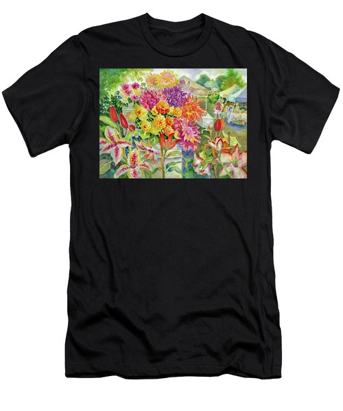 Betsy's Dahlias II Men's T-Shirt (Athletic Fit)