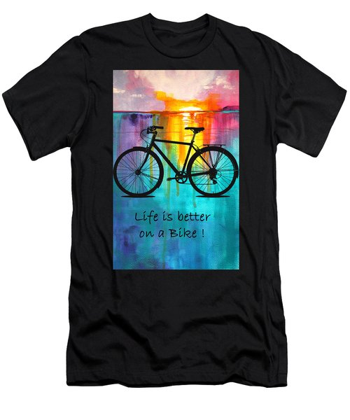Better On A Bike Men's T-Shirt (Athletic Fit)