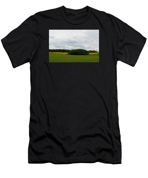 Men's T-Shirt (Slim Fit) featuring the photograph Between The Fields by Lyle Crump
