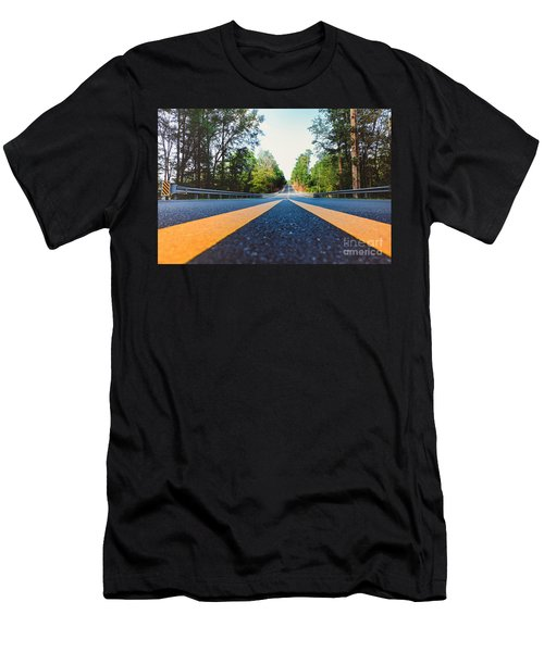 Between Yellow Lines Men's T-Shirt (Athletic Fit)
