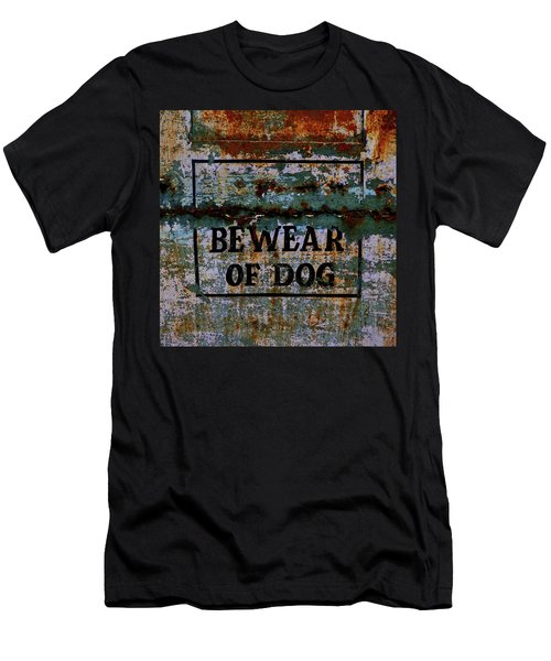 Bewear Of Dog Men's T-Shirt (Athletic Fit)