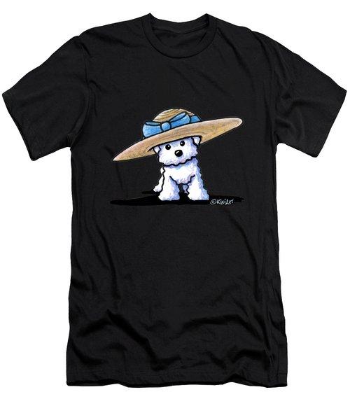 Bichon In Hat Men's T-Shirt (Athletic Fit)