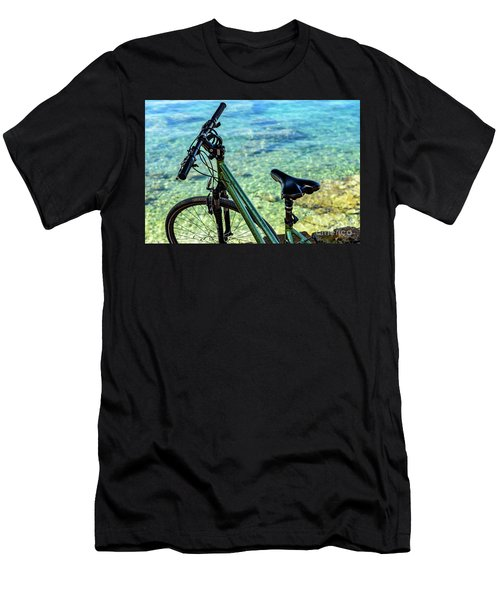 Bicycle By The Adriatic, Rovinj, Istria, Croatia Men's T-Shirt (Athletic Fit)