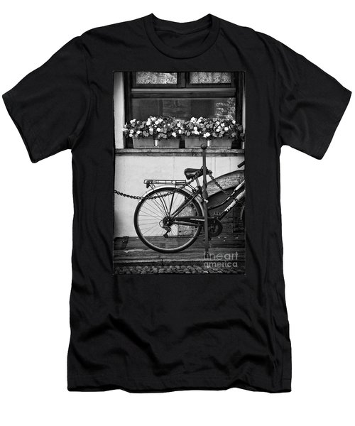 Bicycle With Flowers Men's T-Shirt (Slim Fit) by Silvia Ganora