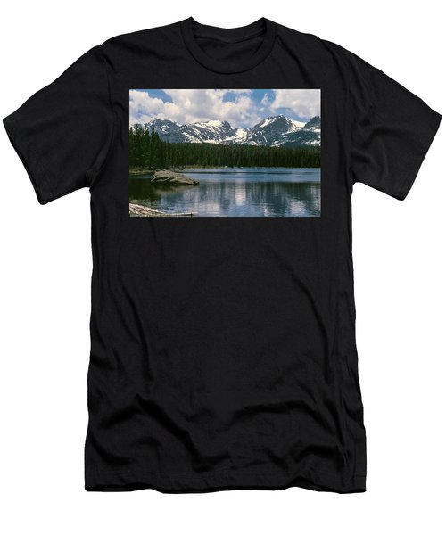 Bierstadt Lake Hallett And Otis Peaks Rocky  Mountain National Park Men's T-Shirt (Athletic Fit)