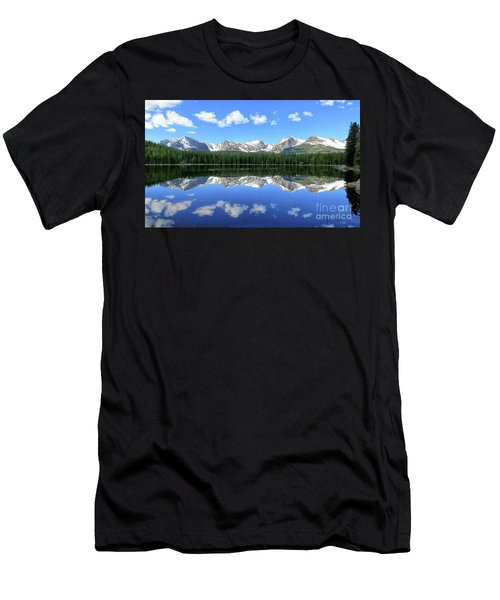 Bierstadt Lake In Rocky Mountain National Park Men's T-Shirt (Slim Fit) by Ronda Kimbrow