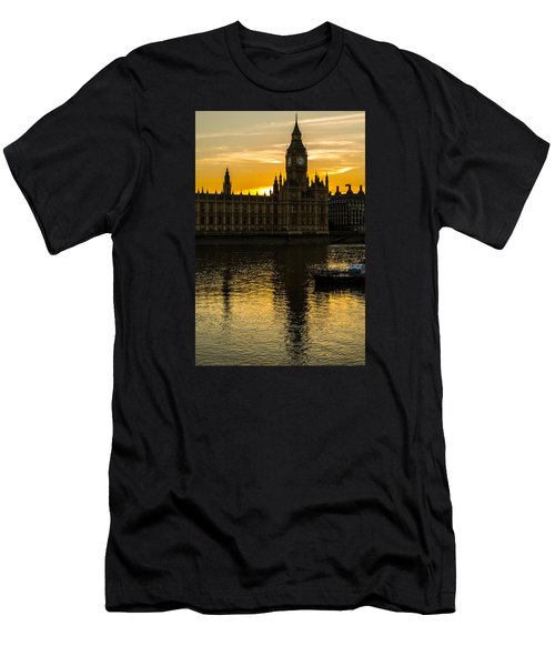 Big Ben Tower Golden Hour In London Men's T-Shirt (Athletic Fit)