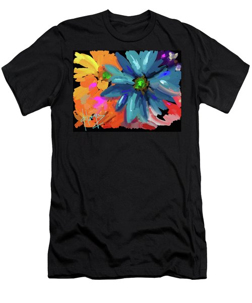 Big Blue Flower Men's T-Shirt (Athletic Fit)