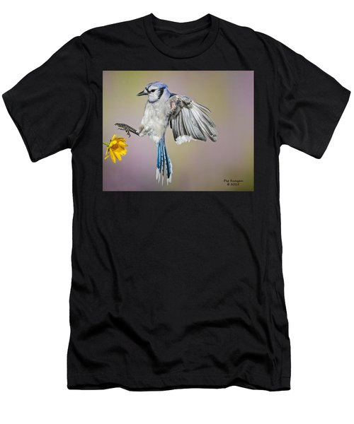 Big Blue In The Flowers Men's T-Shirt (Athletic Fit)