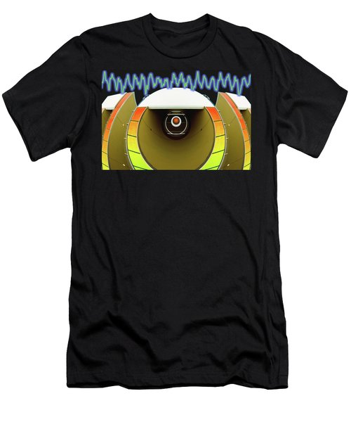 Men's T-Shirt (Slim Fit) featuring the digital art Big Boom Box by Wendy J St Christopher