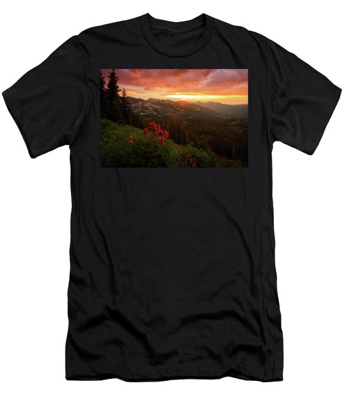Big Cottonwood Sunset Men's T-Shirt (Athletic Fit)