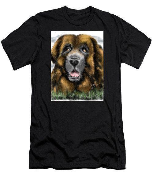 Men's T-Shirt (Athletic Fit) featuring the digital art Big Dog by Darren Cannell