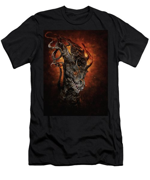 Men's T-Shirt (Athletic Fit) featuring the digital art Big Dragon by Uwe Jarling