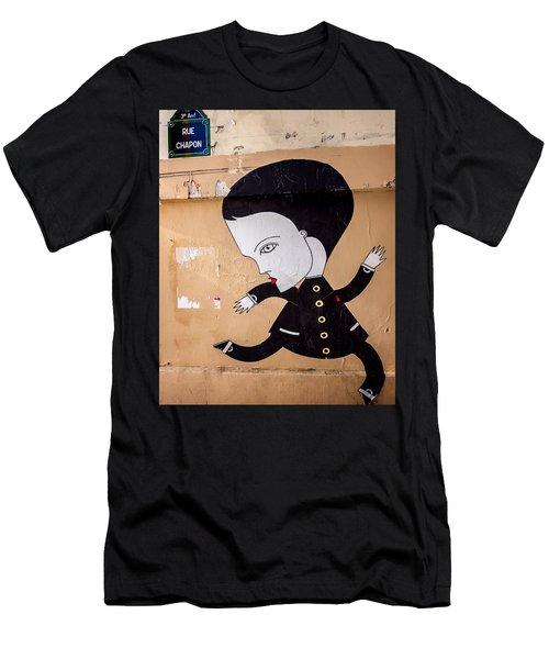 Big Head On Rue Chapon Men's T-Shirt (Athletic Fit)