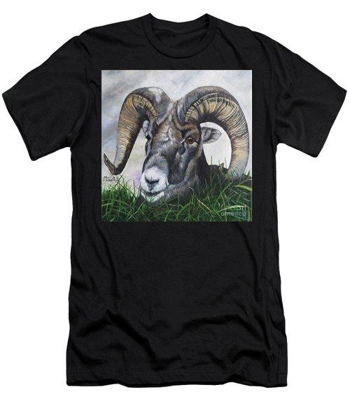 Big Horned Sheep Men's T-Shirt (Athletic Fit)