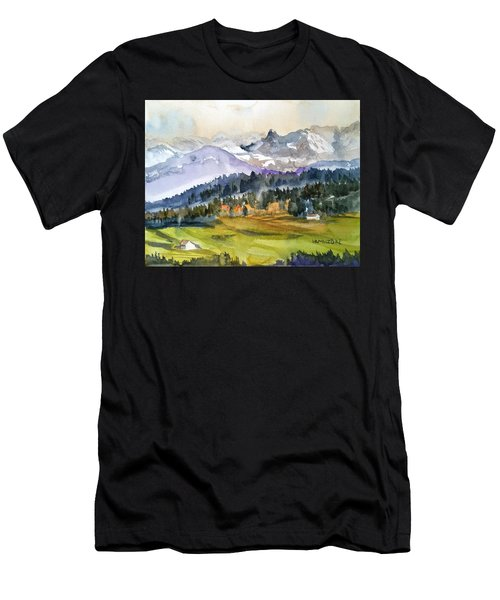 Big Mountain Sunset Men's T-Shirt (Athletic Fit)