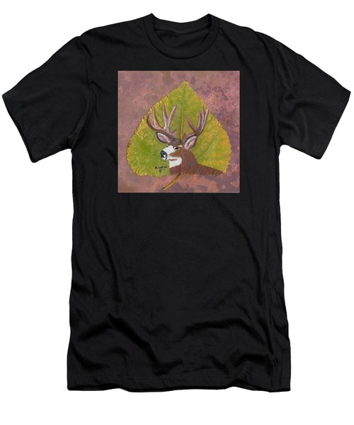 Big Mule Deer Buck Men's T-Shirt (Athletic Fit)