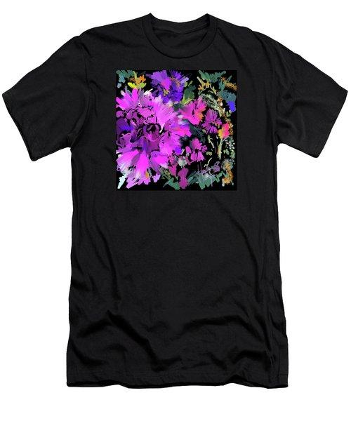 Big Pink Flower Men's T-Shirt (Slim Fit) by DC Langer