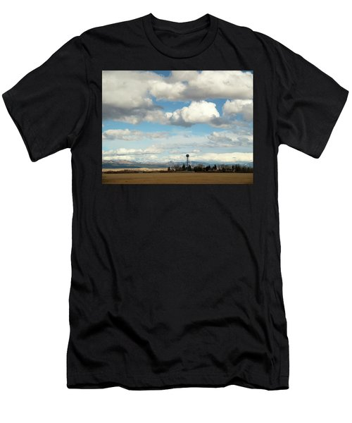 Big Sky Water Tower Men's T-Shirt (Athletic Fit)