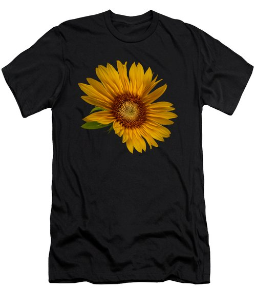 Big Sunflower Men's T-Shirt (Slim Fit) by Debra and Dave Vanderlaan