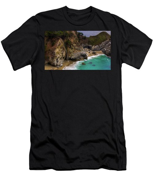 Big Sur Waterfall Men's T-Shirt (Athletic Fit)