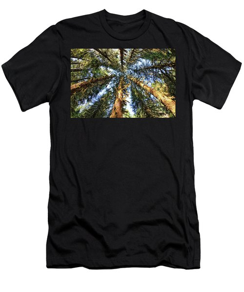 Big Trees In Olympic National Park Men's T-Shirt (Athletic Fit)
